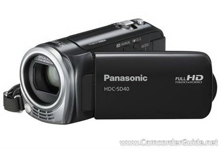 Panasonic HDC-SD40 Manual